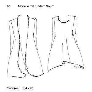Schnittmuster 85 Mantel & Kleid mit rund