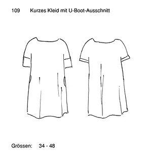 Schnittmuster 109 Kleid mit U-Boot-Aussc
