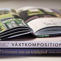 Trädgårdsböcker om växtkompsitio, drömmen om en trädgård, inspiration, växter, design