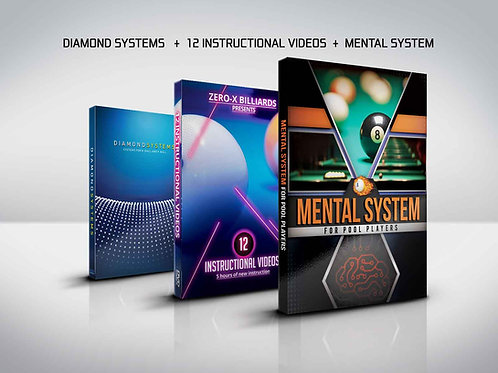 3 DVDs - Diamond System, Mental System, 12 Instructional Videos