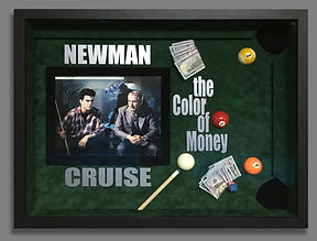 Color of Money Shadow Box Autographed