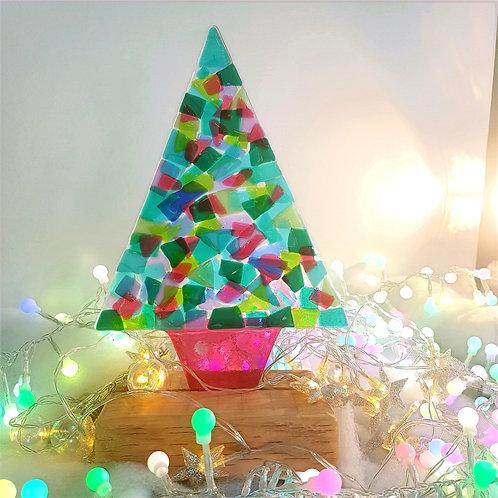 Large Multi Coloured Christmas Tree
