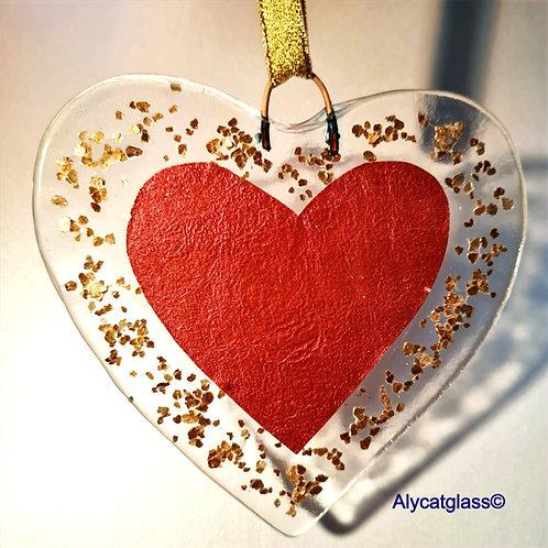 Gold Glitter, Rose Gold /Coppery Heart