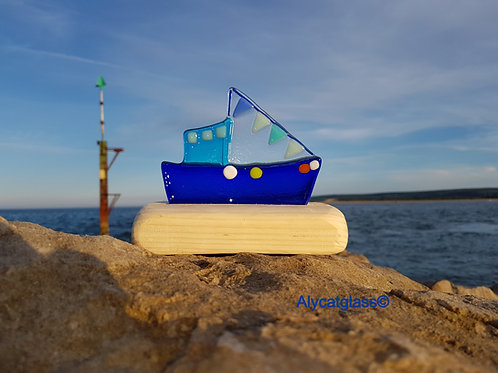 Royal Blue Fishing Boat