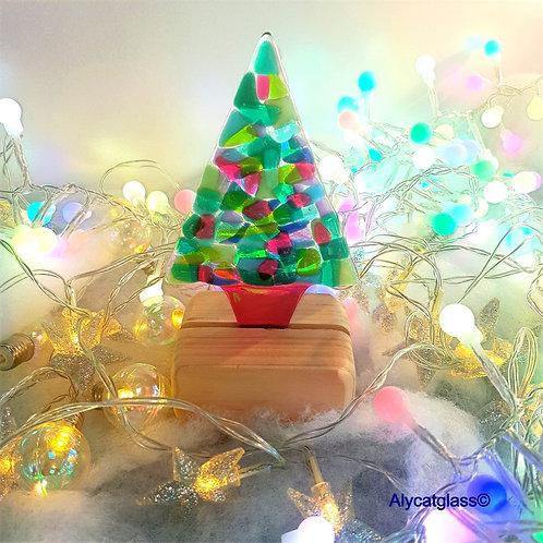 Multi Coloured Medium Christmas Tree
