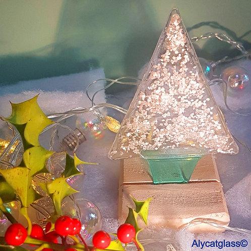 Silver Glitter Medium Christmas Tree