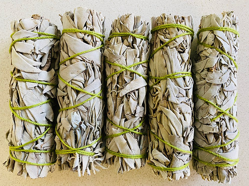 CALIFORNIA WHITE SAGE SMUDGE STICK –SMALL