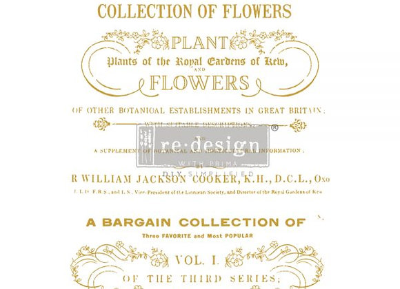 Flower Collector Decor Transfer | ReDesign With Prima
