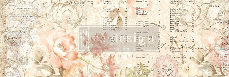 Redesign Decoupage Tissue Paper Floral Parchment | Redesign with Prima