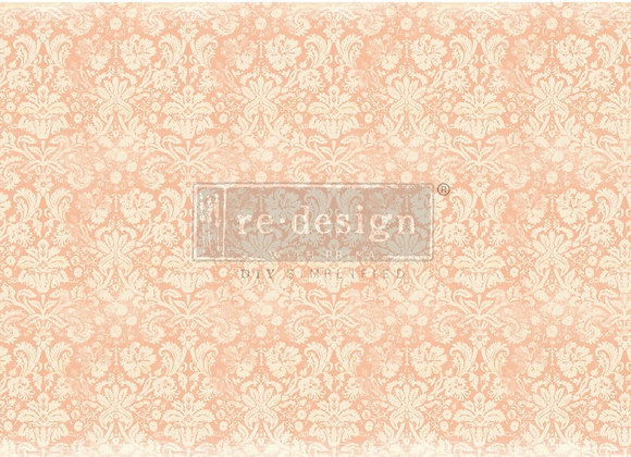 Peach Damask Tissue Paper - Redesign with Prima