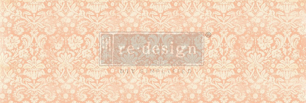 Redesign Decoupage Tissue Paper Peach Damask | Redesign with Prima