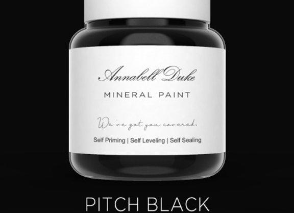 Annabell Duke Pitch Black Mineral Paint - Jet Black