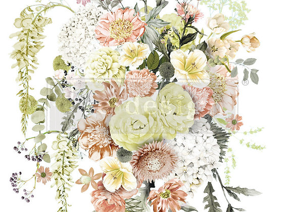 "Life in Full Bloom Decor Transfer | 24"" x 35"" | Re-Design with Prima"