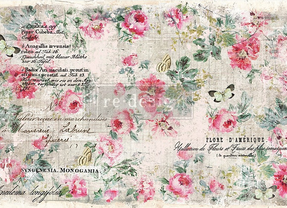 Floral Wallpaper Tissue Paper - Redesign with Prima