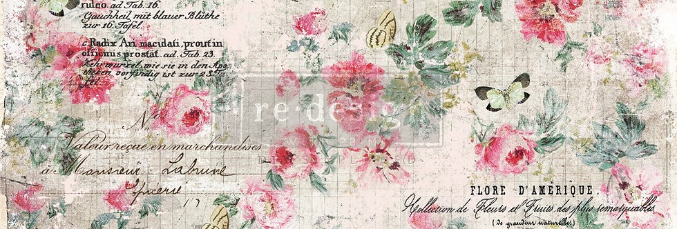 Redesign Decoupage Tissue Paper Floral Wallpaper | Redesign with Prima