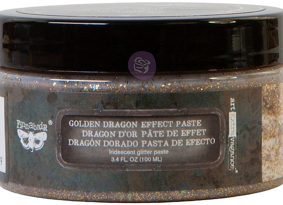 Finnabair Golden Dragon Effect iridescent glitter paste