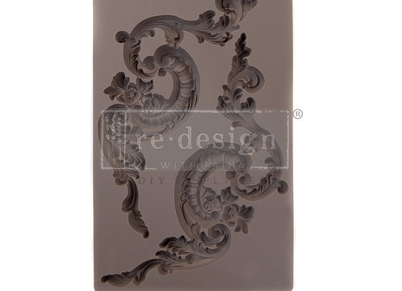 Italian Villa Scrolls silicone mould Redesign With Prima