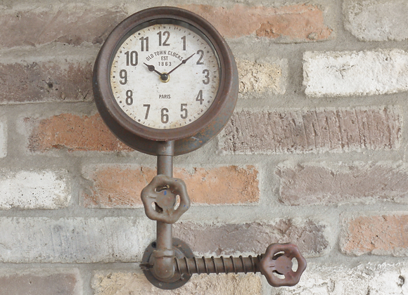 Industrial Pipe Wall Clock - Paris