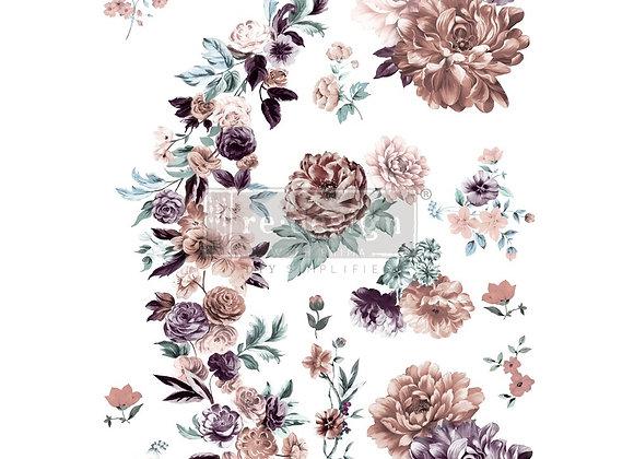 Burgundy Rose Garden Decor Transfer   Redesign with Prima Fur