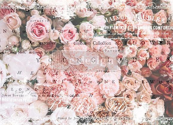 Angelic Rose Garden Tissue Paper - Redesign with Prima