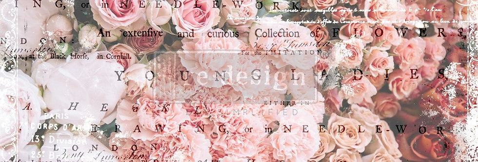 Redesign Decoupage Tissue Paper Angelic Rose Garden | Redesign with Prima