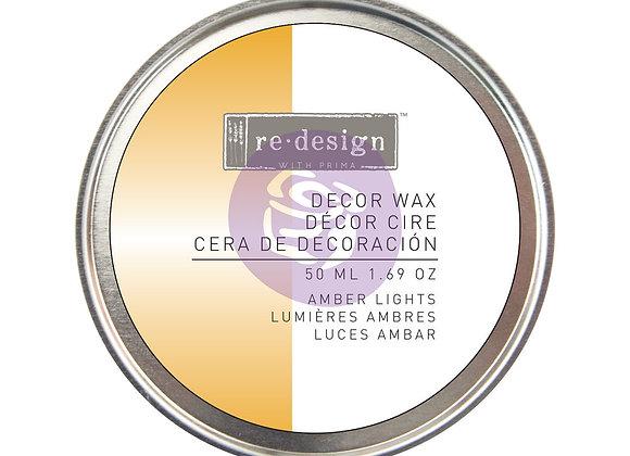 Amber Light Decor Wax Paste 50ml - Yellow Gold Wax