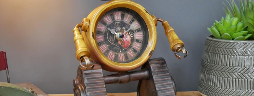 Yellow Robot Clock