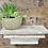 Thumbnail: French style shabby chic wooden shelf with chippy paint