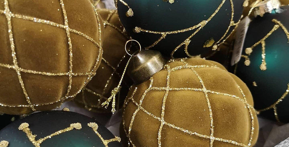 Green & Gold Large Baubles