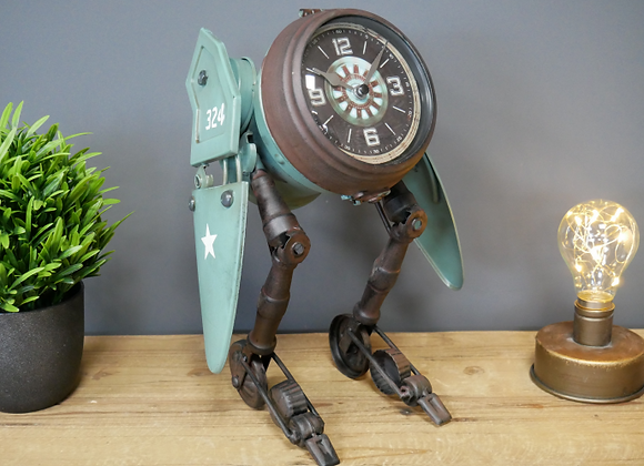 Green Robot Clock