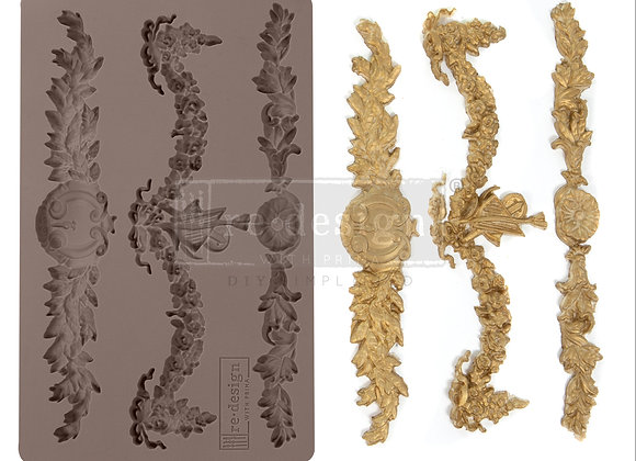 Glorious Garland silicone decor mould Redesign With Prima