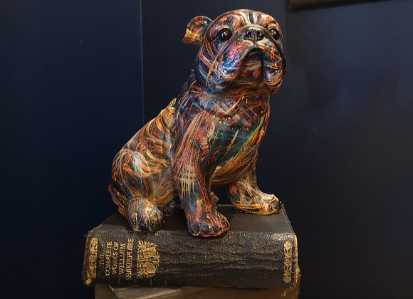Bulldog Statue - pop art style