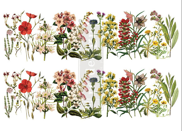"The Flower Fields Decor Transfer | 24"" x 35"" 