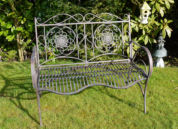 Rust Effect Two Seater Bench