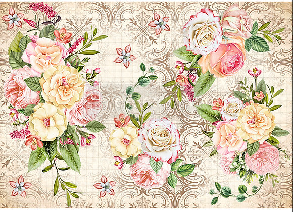 Amiable Roses Rice Paper - Redesign with Prima