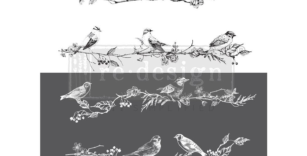 Birds & Berries Decor Transfer | ReDesign With Prima