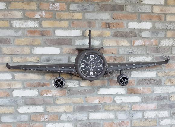 Large Aeroplane Clock - wall clock