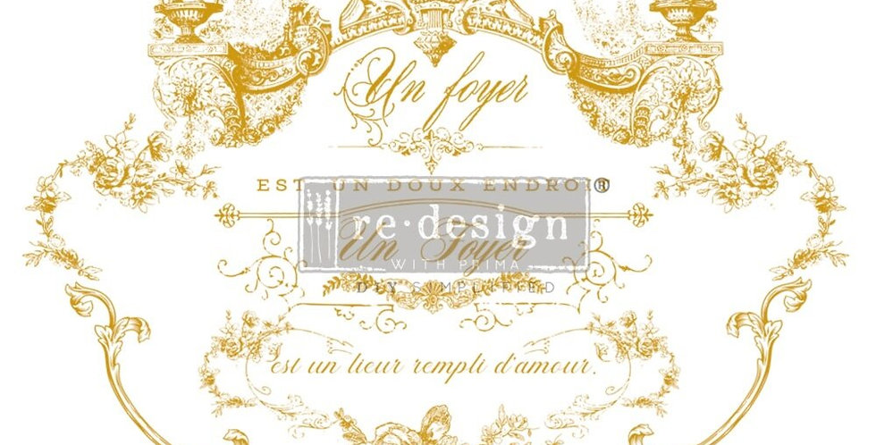 Lovely Script Decor Transfer   ReDesign With Prima