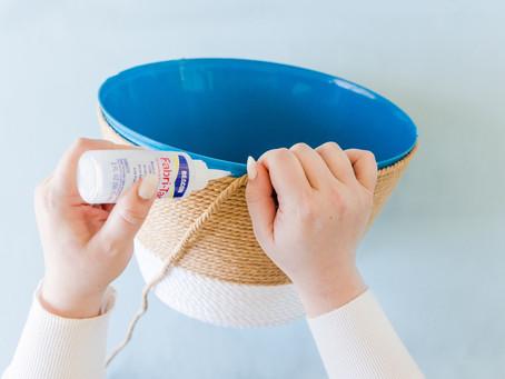 DIY No-Sew Blanket Basket