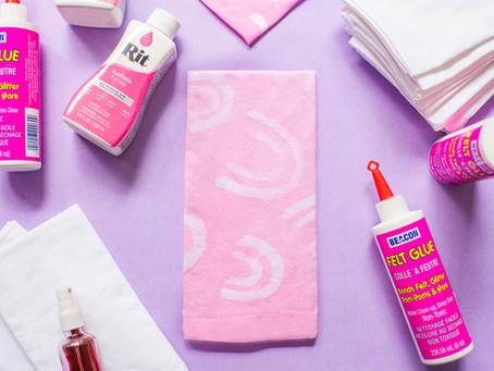 DIY Glue Resist Tie Dye Napkins