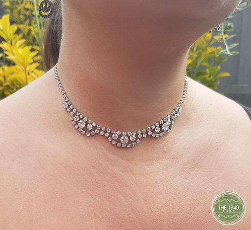 Vintage diamante necklac