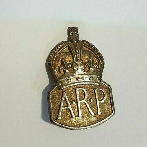 WW2 ARP badge, hallmarked, pin back, Home Front, Wartime, (X)