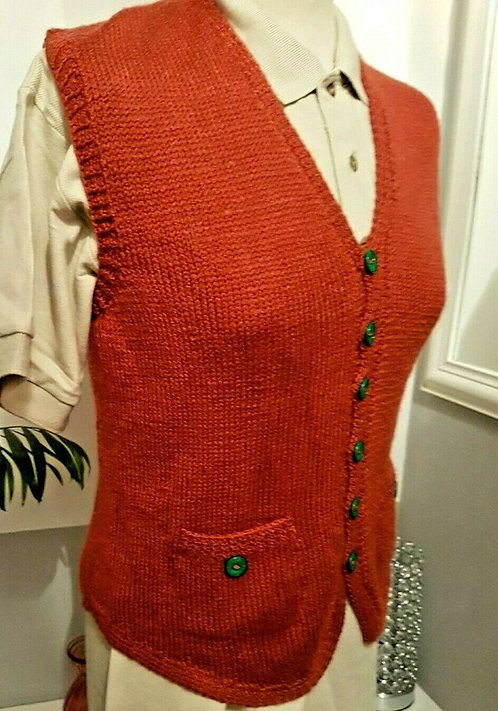 Hand Knitted Waistcoat, Lady or man   (L)
