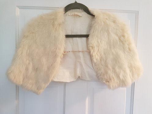 Vintage Cream Fur Cape