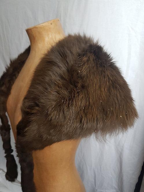 Vintage fur capelet.