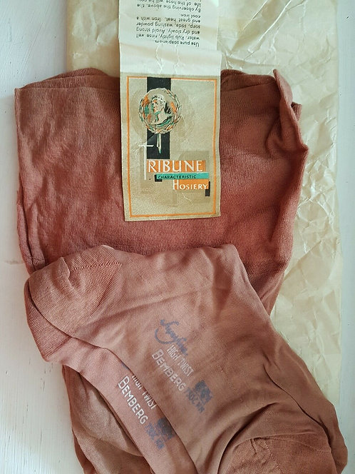 Vintage CC41 stockings, 1940's, WW2, Home front, (P)