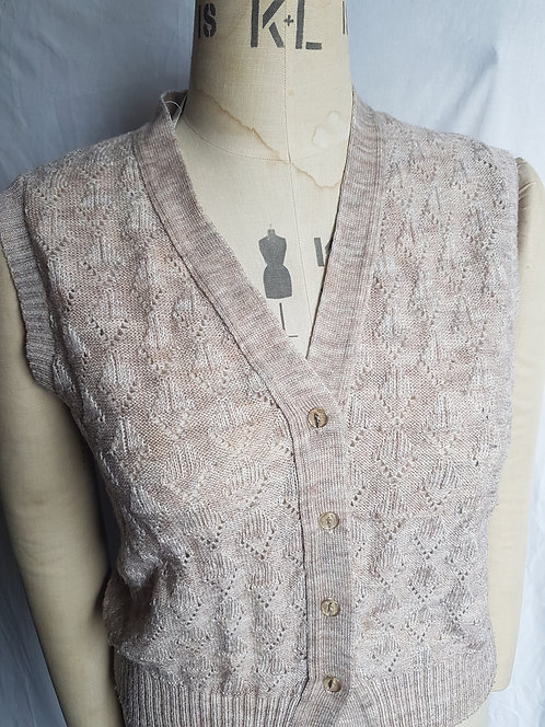 Ladies vintage style knitted waistcoat.  (i)