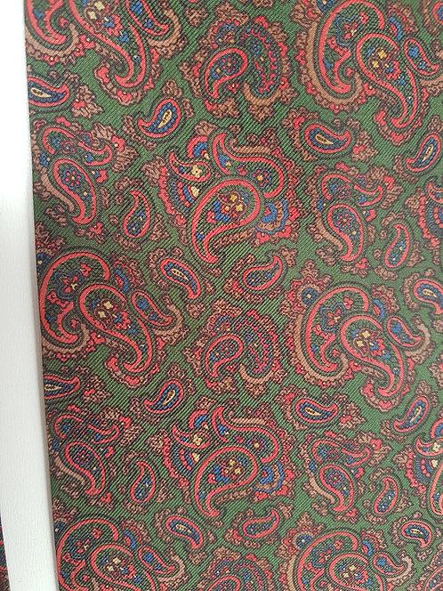 Vintage green paisley cravat
