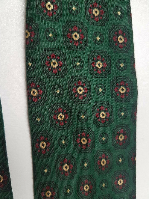 Vintage men's neck tie, 1940's, Tootal, rayon, green, Land Girls (I)