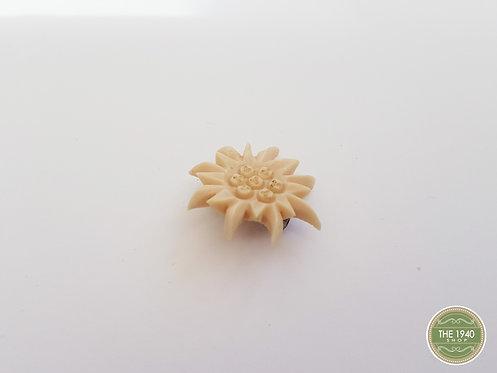 Vintage Plastic Flower Brooch